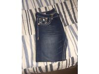 True religion jeans waist 36 but will fit 34