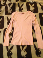 Light Pink Top with Bead Detail, Size Large