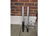 Pitbike CRF 70 USD front forks/ new triple clamps