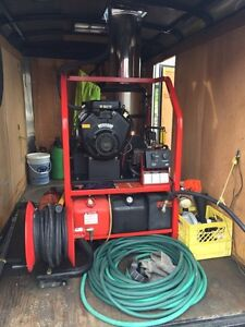 Hotsy hot water 1260 pressure washer with trailer