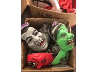 Joblot halloween masks and costumes