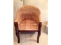 Wicker style chair