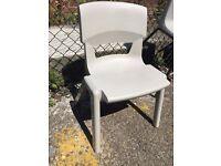 Light Grey Stacking School Chair