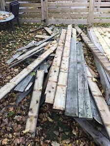 Used Pressure treated deck boards and box