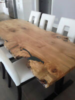 LIVE EDGE HARVEST TABLE MAPLE CONFERENCE BOARDROOM TABLES