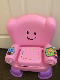 PINK FISHER PRICE CHAIR