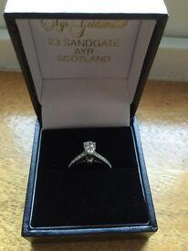 Diamond Engagement Ring Large Pear Diamond Rare