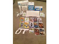 Nintendo Wii Console / Wii Fit with multiple accessories and games