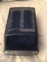 Rolodex covered business card holder