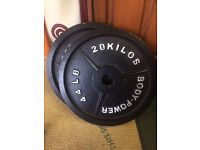 2x 20k olympic weight plates