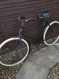 1940's rod brake black bike