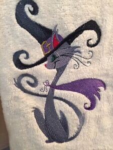 New Embroidered Halloween Hand Towels - Personalize them! Kitchener / Waterloo Kitchener Area image 1