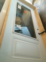 New! Metal exterior door 36 inches wide/left hand swing!