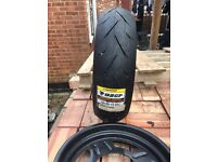 Brand new tyre tread (2xmotorbike & 2XDirt bike)plus rims(x2)