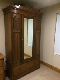 Wardrobe and dressing table.