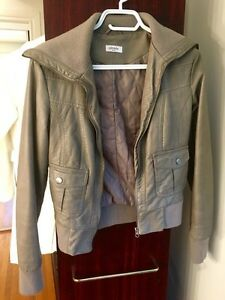 Faux leather jacket (coat)