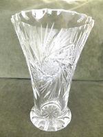 Sweet Pinwheeel Cut Crystal Vase