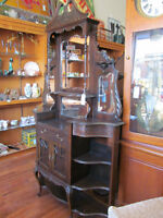 Vintage Display Cabinet China What not shelf