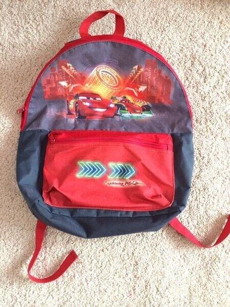 cd5fbdb24db Disney Cars Lightning McQueen Large Backpack