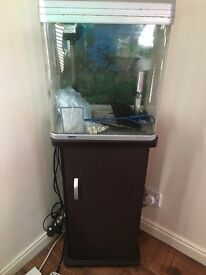USED- Fish Tank with cabinet.