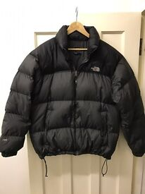 North face men's XL 700 series puffer jacket - grey & black