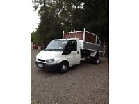 Ford transit tipper ready for work