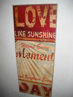 """Love"" Laminated Sign"