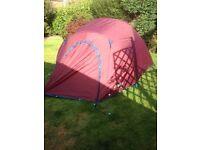 Vango 3 man tent plus cooking stove air bed & electric pump