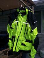 Motor cycle Jacket Hi Viz Yellow