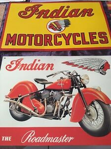 Authentic Indian Motorcycle signs