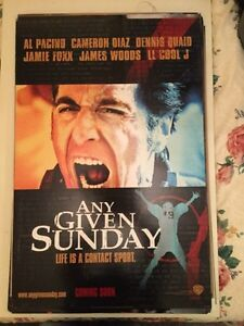 Any Given Sunday Original movie Theatre Poster