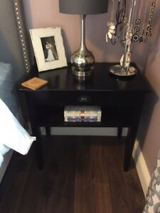 2 solid wood night stands