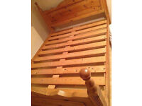 Wooden King size bed and mattress