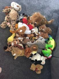 Bag of cuddly toys
