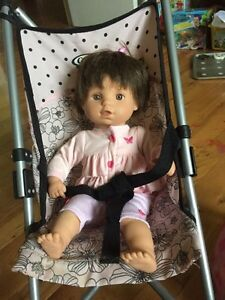 Doll stroller and doll set