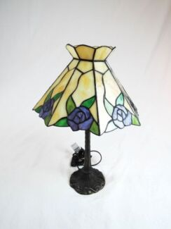 Leadlight lamp in new south wales gumtree australia free local floral leadlight table lamp aloadofball Gallery