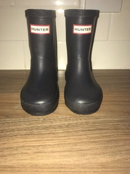 Child's size 5 Hunter wellies