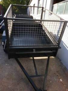 BRAND NEW 85 HEAVY DUTY LOW SIDE BOX TRAILER + CAGE Carlton Kogarah Area Preview