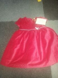 Red velvet John Lewis Dress