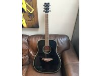 Yamaha fg720s black acoustic guitar