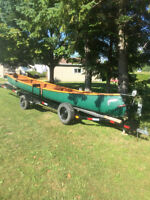 26 FT CANOE WITH TRAILER (equipped with all you need for river)