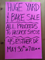 Charity Yard & Bake Sale!!  ALL PROCEEDS TO HOSPICE SIMCOE!!