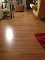 Over 800 sq ft used Beech Laminate Flooring -very good condition