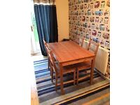 Dinning Table + 3 Chairs