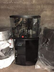 30 bow front fish tank with stand