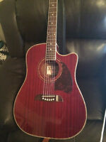 Oscar Schmidt - 6-String Full-Size Dreadnought Acoustic/Electric