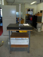 """granite surface plate with Stm 24"""" digital height guage"""