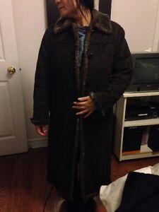 Women's suede coat size xs