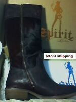 LUCCHESE SPIRIT COLLECTION RIDING BOOT~W 7.5~NIB~75% off