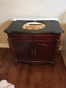 Single sink vanity with taps - brand new